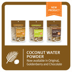 You can quench your thirst with three varieties of organic, freeze-dried Coconut Water Powder from Navitas Naturals: Original, Chocolate and Goldenberry.  (PRNewsFoto/Navitas Naturals)