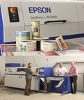 From Left to Right: Curtis Feipel, Digital Press Operator, A-Flex; Ken Paveza, Sales Manager, A-Flex; Tom Carroll, President, The Labeltape Group. (PRNewsFoto/Epson America, Inc.)