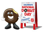 Happy 2014 National Donut Day from Entenmann's & The Salvation Army! (PRNewsFoto/Bimbo Bakeries USA (BBU))
