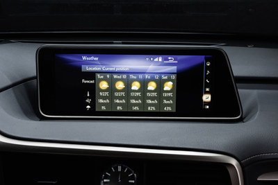 Lexus Expands Relationship with INRIX to Include Weather and Fuel Services