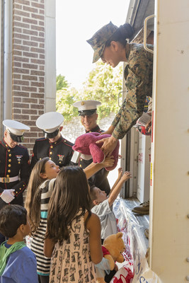 """As the largest retail partner in the history of the Marine Toys for Tots Foundation, Toys""""R""""Us has raised nearly $42 million and collected more than 4 million toys since the partnership began in 2004."""