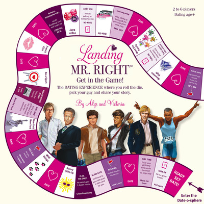 """Landing Mr. Right is a hilarious NEW board game for single women in pursuit of """"the One."""" The game, which has just launched in time for Valentine's Day, was created by Alys Daly and Victoria Brewer (both single) as a way to build confidence and friendship among women. Landing Mr. Right leads women on a virtual dating journey to find their own """"Mr. Right."""" Along the way, they will have the opportunity to date six stereotypical men and will be asked to answer questions and share stories about their dating experiences. Landing Mr. Right is available for purchase on  www.landingmrright.com . (PRNewsFoto/Landing Mr. Right) (PRNewsFoto/LANDING MR. RIGHT)"""