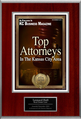Attorney Leonard Hall Selected for List of Top Rated Lawyers in Kansas. (PRNewsFoto/American Registry) (PRNewsFoto/AMERICAN REGISTRY)