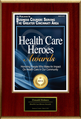 "Donald Holmes Selected For ""Health Care Heroes Awards.""  (PRNewsFoto/American Registry)"