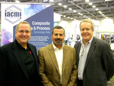 L to R: Peter Hedger, MVP President and CFO,  Leon Garoufalis, Composites One President and COO, and Craig Blue, IACMI-The Composite Institute CEO