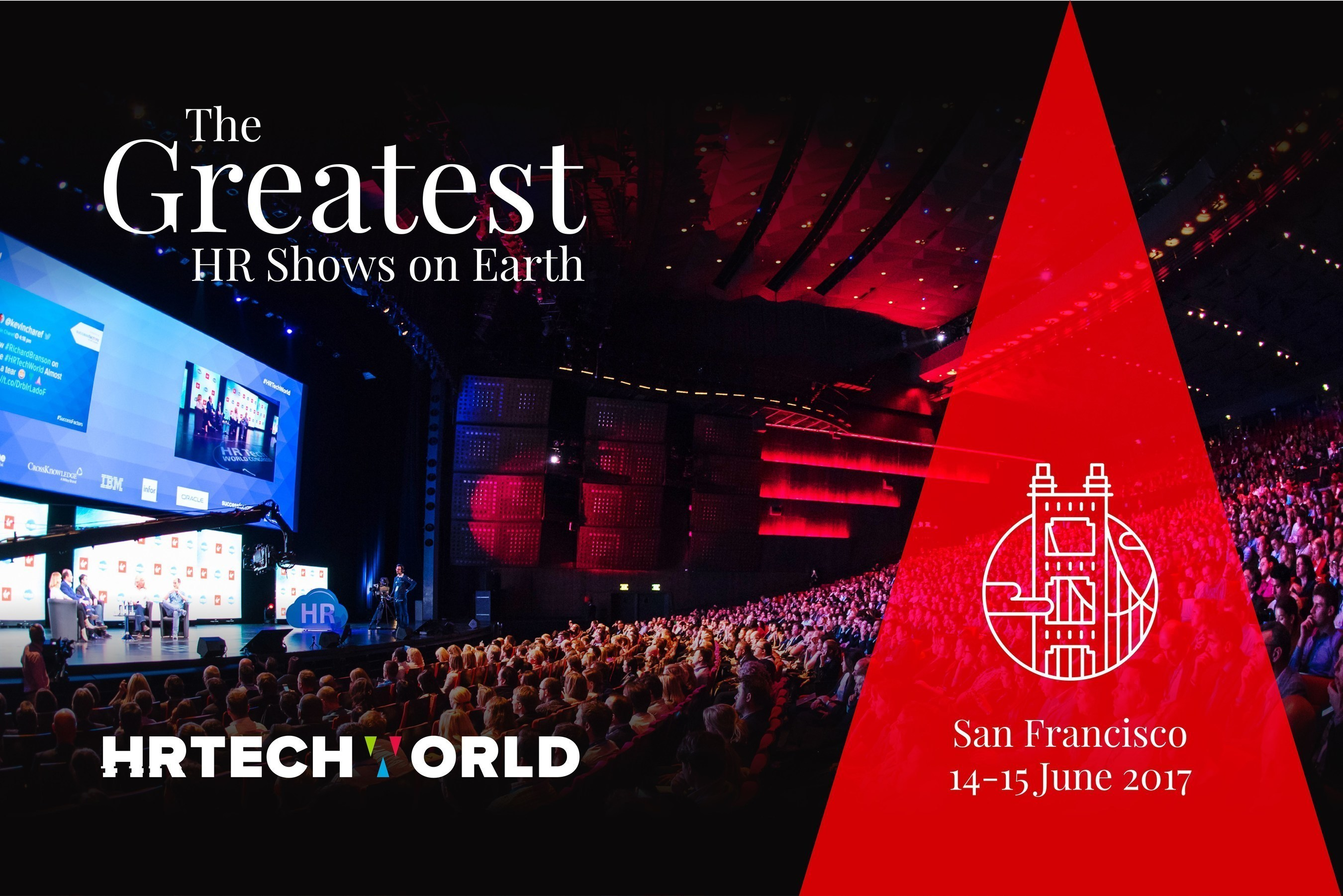 HR Tech World - the fastest growing show on the Future of Work in the world - opens in San Francisco on June 14th & 15th 2017 at Fort Mason.