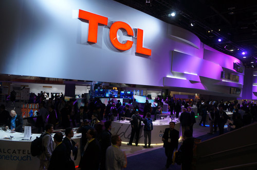 TCL booth at CES 2016