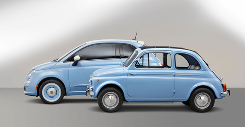 """New 2014 Fiat 500 """"1957 Edition"""" Highlights 57 Years of the Legendary Icon. (PRNewsFoto/Chrysler Group ..."""
