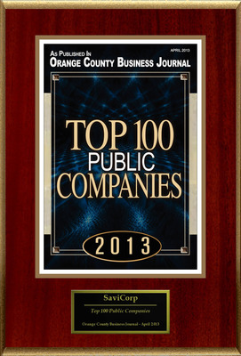 "SaviCorp Selected For ""Top 100 Public Companies"""