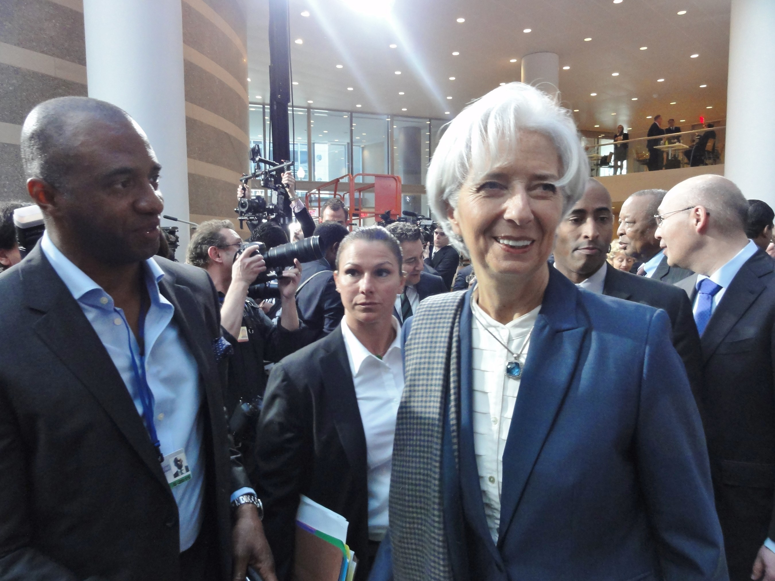 AIA Group Chairman Shawn Baldwin joins International Monetary Fund Managing Director Christine Lagarde at the 2015 IMF and World Bank spring meetings in Washington, D.C.