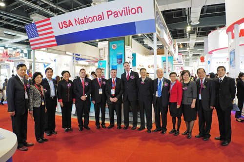 DenTech China 2012 USA National Pavilion.  (PRNewsFoto/UBM ShowStar)