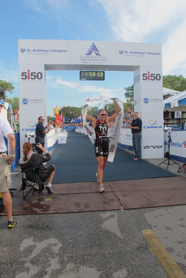 Sarah Haskins and Filip Ospaly Repeat as 2012 St. Anthony's Triathlon Champions