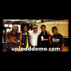 Upload Demo CEO Dino Awadisian, center, with boy band Mindless Behavior.  (PRNewsFoto/Upload Demo)