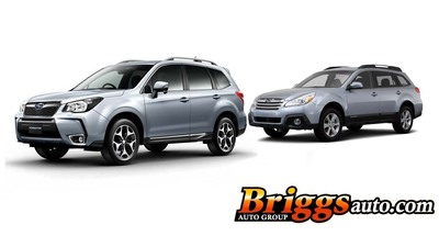 The 2014 models of both the Subaru Forester and Outback are currently available at Briggs Subaru of Topeka in Kansas.  (PRNewsFoto/Briggs Auto Group)