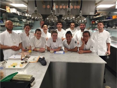 2015-16 ment'or grant recipient Daniel Mocca-Field at Manresa Restaurant, CA.  (Shown center back row)