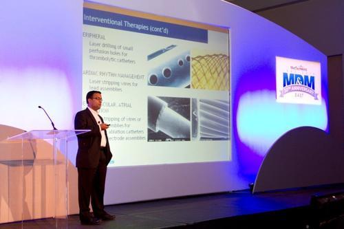 Keynote presentation at the MD&M East conference (PRNewsFoto/UBM Canon) (PRNewsFoto/UBM Canon)