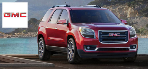 The 2014 GMC Acadia features a spacious cabin capable of seating up to eight passengers.  (PRNewsFoto/Briggs ...
