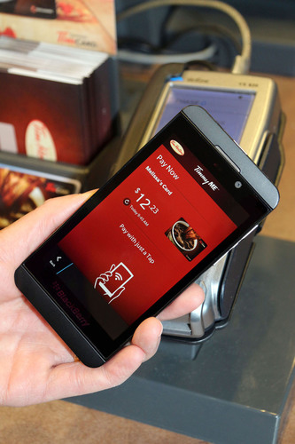 Tim Hortons introduces mobile tap and scan payment options for in-restaurant purchases. (PRNewsFoto/Tim ...