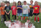 Reading Green Hornets Soccer Team Plants Trees to Celebrate Earth Day.  (PRNewsFoto/Zumbiel Packaging)