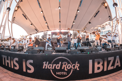 Hard Rock International Commemorates Opening Of First European Property With Legendary Celebration In Ibiza, Spain (PRNewsFoto/Hard Rock International)