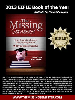 The Missing Semester Flyer. (PRNewsFoto/Eugene M. Natali, Jr.) (PRNewsFoto/EUGENE M. NATALI, JR.)