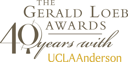 The Gerald Loeb Awards celebrate 40 years with UCLA Anderson School of Management.  (PRNewsFoto/UCLA Anderson School of Management)