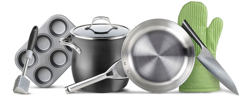 The Calphalon warehouse sale features discounted prices of up to 70 percent off on premium cookware, kitchen electrics, cutlery, bakeware and more.  (PRNewsFoto/Calphalon)