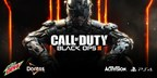Mountain Dew(R) and Doritos(R), the ultimate fuel for gamers, are once again teaming up with Activision Publishing, Inc. for the latest installment in Call of Duty(R), Black Ops III, which hits shelves worldwide on November 6. For the first time, the 'Fuel Up for Battle' program will offer fans exclusive Double XP in the highly-anticipated Call of Duty: Black Ops III Zombies mode, 'Shadows of Evil.'