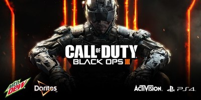 Mountain Dew® and Doritos®, the ultimate fuel for gamers, are once again teaming up with Activision Publishing, Inc. for the latest installment in Call of Duty®, Black Ops III, which hits shelves worldwide on November 6. For the first time, the 'Fuel Up for Battle' program will offer fans exclusive Double XP in the highly-anticipated Call of Duty: Black Ops III Zombies mode, 'Shadows of Evil.'