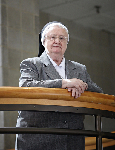 Philadelphia's longest serving university president, Sister Francesca Onley, announces her retirement after 32 years at the helm at Holy Family University, a premier Catholic university of the liberal arts and professions. (PRNewsFoto/Holy Family University) (PRNewsFoto/HOLY FAMILY UNIVERSITY)