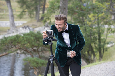 David Beckham sets up the camera on set during filming of the HAIG CLUB(TM)  advert directed by Guy Ritchie