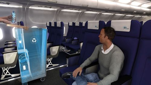Brazil - Team RETROLLEY from University of SÃPounds Sterlingo Paulo came up with a system that increases the rate of recycling of cabin disposables, reducing waste and speeding up airline operations. (PRNewsFoto/Airbus)