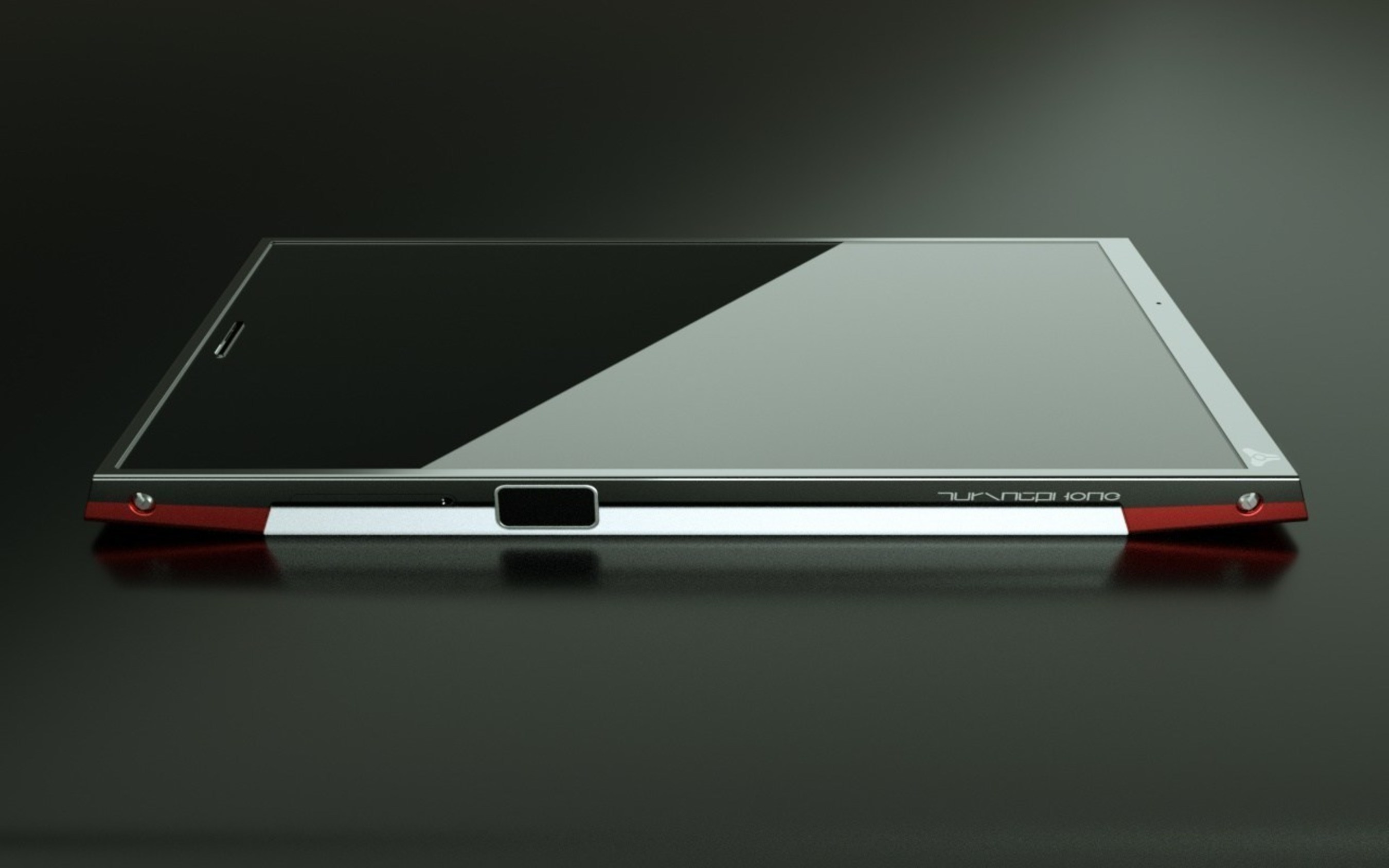 Side view of Turing Robotic Industries' Turing Phone.