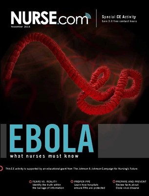 "Special Free CE Activity ""Ebola: What Nurses Should Know"" is available at Nurse.com/Ebola"