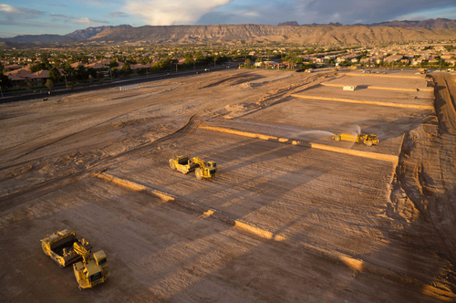 Construction Underway at Sahara Center in Las Vegas.  (PRNewsFoto/EHB Companies)