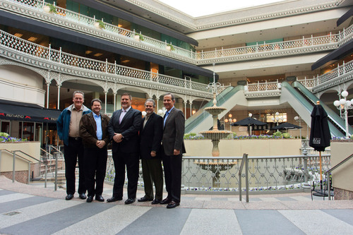(LtoR) TDPartners Tim Feeley and Ken Scheepers, The Crescent's Rick Flusche, TDPartner Bruce Lane and ...