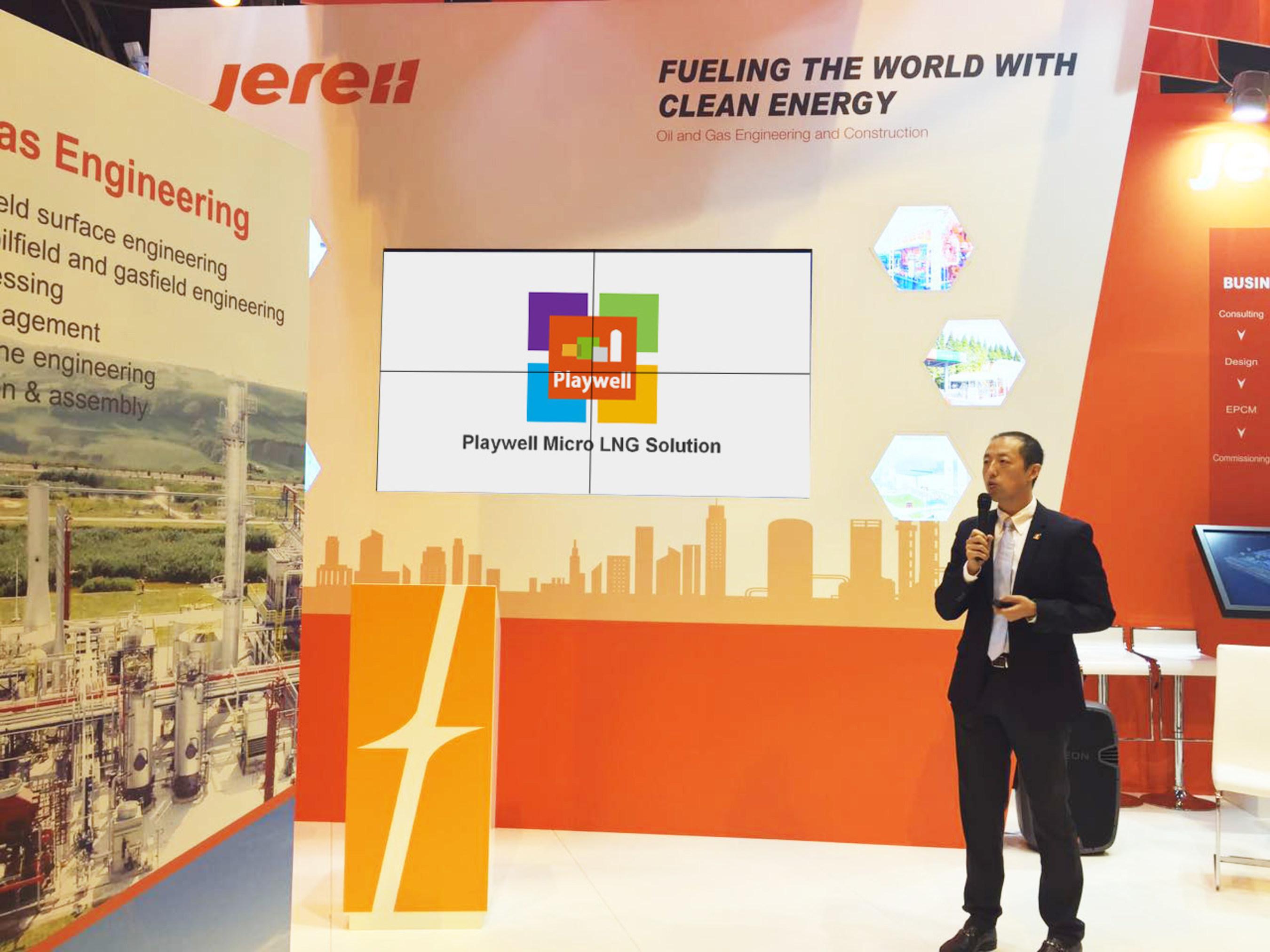 Jereh lanceert Playwell Micro LNG- oplossing op WGC