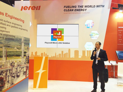 Mr. Li Weibin, VP of Jereh Group, Launches Playwell Micro LNG Solution at Paris WGC