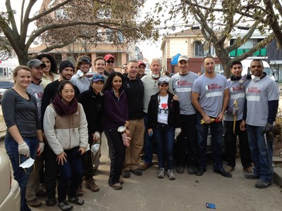 Wounded Warrior Project joins volunteers from Team Rubicon, and former President Bill Clinton, during a community response event.