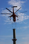 In order to reduce environmental impact, helicopter construction was used for much of the work on the Susquehanna-Roseland transmission line.