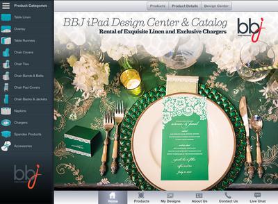 BBJ Linen introduces iPad app for the event industry.  (PRNewsFoto/BBJ Linen)