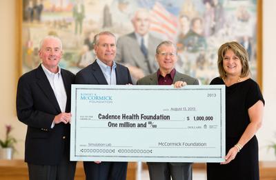 Cadence Health Receives $1 Million McCormick Foundation Grant