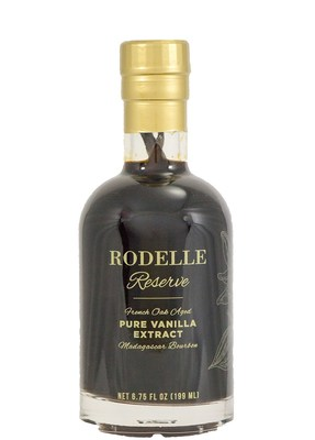 Rodelle Reserve French Oak Aged Madagascar Bourbon Pure Vanilla Extract is a small-batch, gourmet vanilla extract for savvy consumers. Eighty years in the making, Rodelle Reserve is the most complex and carefully crafted vanilla extract available. With only 1600 units, Rodelle Reserve offers a small-batch, aged vanilla extract that will elevate any baking occasion. Rodelle Reserve is the best vanilla extract available with the purest of ingredients and a vintage feel that honors the heritage of the world's favorite flavor.
