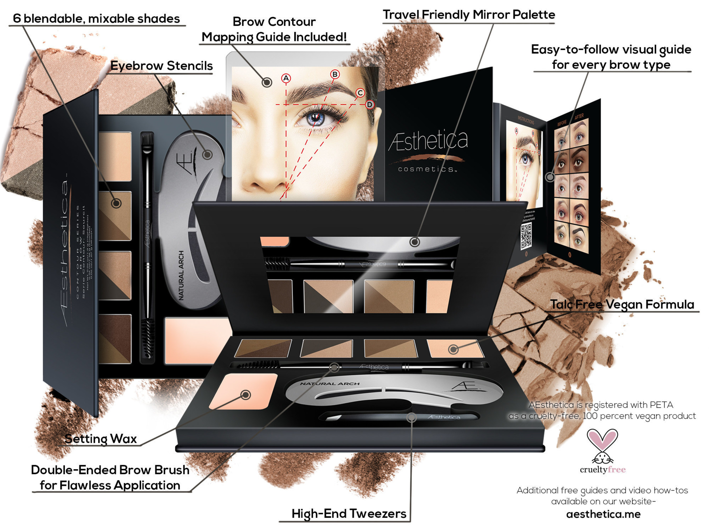 Aesthetica Cosmetics Introduces the Brow Kit To Beat All Brow Kits