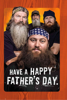 "Hallmark's ""Duck Dynasty"" Father's Day cards are available exclusively at select Walmart stores nationwide.(c) 2013 A&E Television Networks, LLC. All rights reserved.  (PRNewsFoto/Hallmark Cards, Inc.)"
