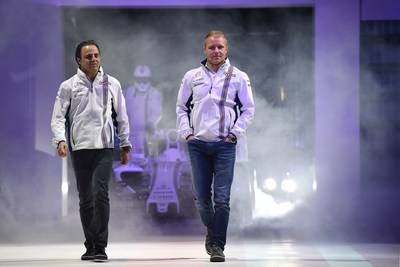 MARTINI launches the 2016 race season with Williams Martini Racing F1 drivers Felipe Massa and Valtteri Bottas. (PRNewsFoto/MARTINI) (PRNewsFoto/MARTINI)