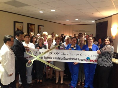 The CyFair Houston Chamber of Commerce conducted the ribbon cutting for the new office location of the Houston Methodist Institute for Reconstructive Surgery, on the campus of Houston Methodist Willowbrook Hospital. (PRNewsFoto/Houston Methodist Willowbrook)