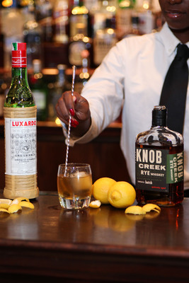 """From the """"Handcrafted Classic Cocktails"""" menu, Maggiano's Catcher in the Rye is meticulously prepared using Knob Creek® Rye, Luxardo® Maraschino, simple syrup and Fee Brothers Old Fashion Bitters."""