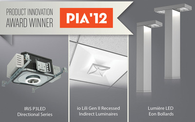 Three LED products from Cooper Lighting have been honored for ingenuity in this year's Architectural Products Product Innovation Awards (PIA) competition.  (PRNewsFoto/Cooper Lighting)