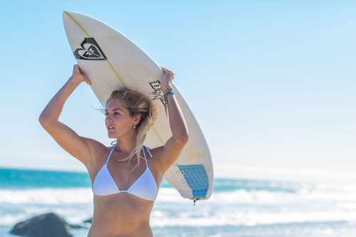ROXY team member and 5X World Champion, Stephanie Gilmore.  (PRNewsFoto/ROXY)
